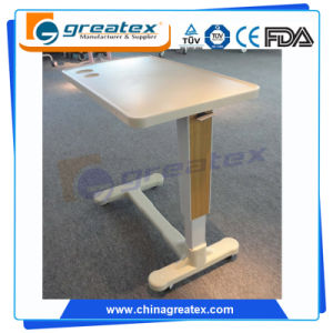 ABS Height Adjustable Overbed Table Hospital Over-Bed Table pictures & photos