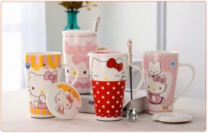 Wholesale 16oz Ceramic Coffee Mug with Spoon for Promotion pictures & photos