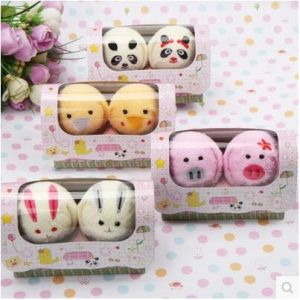 Sales Promotion Animal Creative Christmas Gift Baby Cake Face Towel pictures & photos
