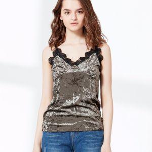 Sexy Fashion Women Camisole Lace Velvet Vest Top pictures & photos