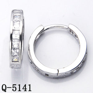 Factory Wholesale Silver Earrings with CZ pictures & photos