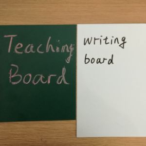 Green and White Colors Writing Board pictures & photos
