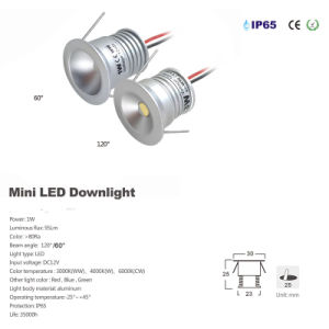 1W IP65 25mm 12V DC Mini LED Downlight Outdoor Bulb Lighting pictures & photos