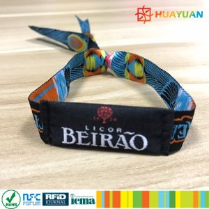 Ticket NFC NTAG213 Woven SEWING Fabric Bracelet for Music Festival pictures & photos