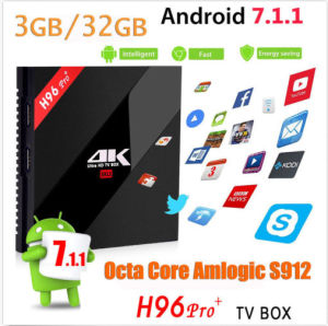 New Model H96 PRO 64 Bit Amlogic S912 3G+32g Google Android 7.1.1 Best TV Box pictures & photos