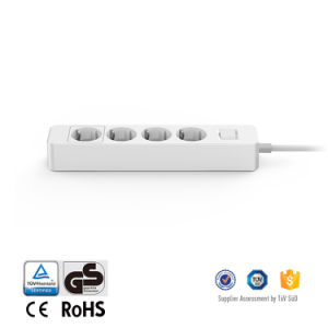 German-Type Power Strip 4 AC Outlet Adapter for Home Appliances pictures & photos