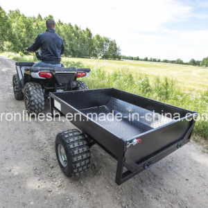 Black Power Coating Tread Plate 500kgs Versatile Tipping Farm Trailer/Box Trailer/Single Axle Trailer/Garden Trailer/Yard Trailer for Quads/ATV/Small Tractors pictures & photos