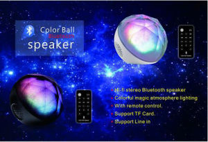 LED Lights Portable Wireless Bluetooth Computer Speaker with Remote Control pictures & photos