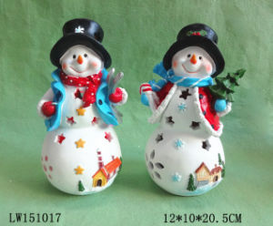 Xmas Snow Man Statue Figurine Decoration Craft for Ornament pictures & photos