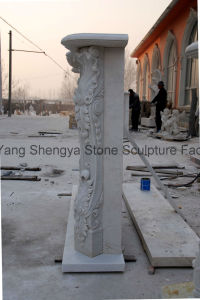 White Marble Fireplace Stone Fireplace Mfp-017 pictures & photos