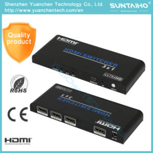 5V/1A DC Support 3D 1080P 2.0V HDMI 3X1 HDMI Switcher for Video pictures & photos