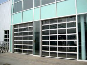 Polycarbonate Greenhouse Soft PVC Sectional Transparent Glass Garage Doors (Hz-TD06) & China Polycarbonate Greenhouse Soft PVC Sectional Transparent ... Pezcame.Com