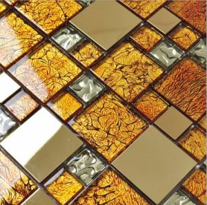 Good Glass Mosaic, Metal Mixed Glass Mosaic Tile pictures & photos