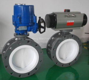 Teflon Lined Seat Butterfly Valve (D43) pictures & photos