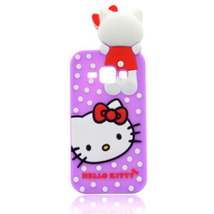 Cute Hello Kitty Cat DOT Silicone Phone Case for Huawei P8lite P9 P9lite A610 V6plus (XSK-009)