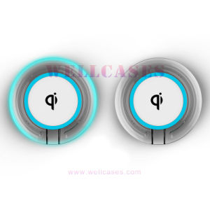 Qi Metal Wireless Charging Pad Anti-Slip Round Transmitter Charger for Cellphone