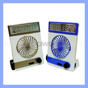 Summer 3 in 1 Portable Table Fan with 30PCS LED Light and Torch Light pictures & photos