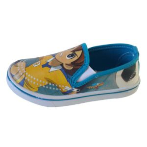 Custom Boy′s Kids Footwear Slip-on High-Top Canvas Shoes pictures & photos