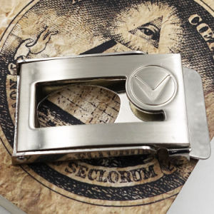 Logo Embossed Leather Men Belt Buckle for Strap pictures & photos