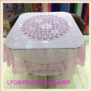 Vinyl PVC Crochet Lace Tablecloth Ready Made pictures & photos