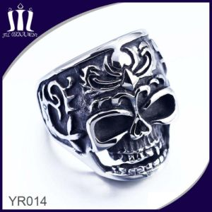 Yr014 Black Oil Painting Skull Finger Ring pictures & photos