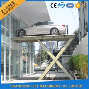 Underground Hydraulic Scissor Car Lifter with Ce pictures & photos