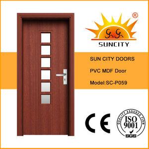 Wholesale Single Glass Door Interior PVC Doors (SC-P059) pictures & photos