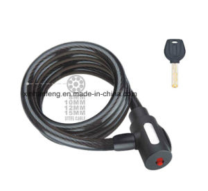 Bicycle Spiral Cable Lock for Bike with Low Price (HLK-021) pictures & photos