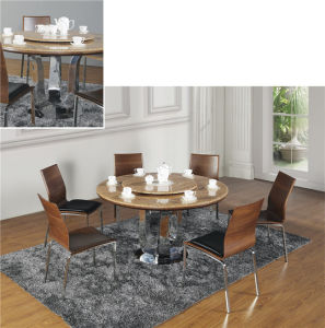 Modern Round Dining Table Sets with Dining Chair pictures & photos