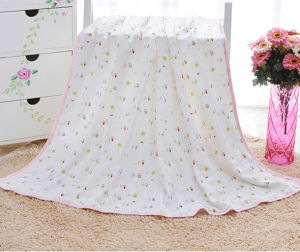 100% Bamboogauze Baby Muslin Swaddle Blanket pictures & photos