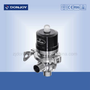 304/316L Stainless Steel Pneumatic Tee Radial Diaphragm Valve pictures & photos