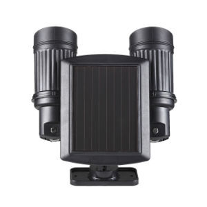 Adjustable Dual Heads Security Lamp 14 LEDs Spotlight Outdoor Solar Powered PIR Motion Sensor Wall Light pictures & photos
