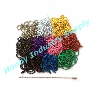 2.4mm Color Steel Ball Chain Key Chain with Connectors