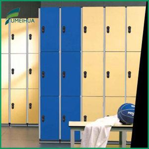 Hot Sale HPL 3 Doors School Locker /Gym Locker /Sport Locker pictures & photos