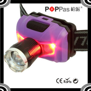 Poppas T16D Powerful XPE LED+ 2red SMD Telescopic Headlamp pictures & photos