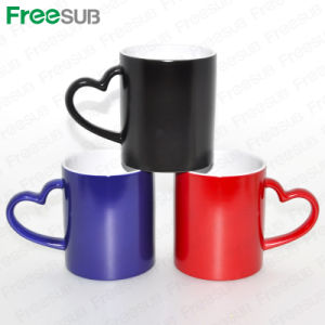 Heart Handle Sublimation Color Changing Magic Mug pictures & photos