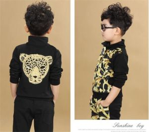 Hot Sale Flower Printed Casual Sports Suit for Boys pictures & photos