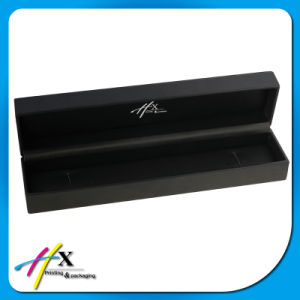 Black Leather Coated Blind Embossed Logo Luxury Jewelry Packaging Case Set pictures & photos
