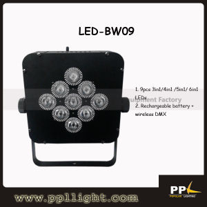 9PCS LED Rechargeable Battery Wireless DMX PAR Light pictures & photos