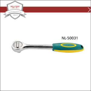 "18"" Ratchet Wrench with Rubber Handle, Chrome Plated."