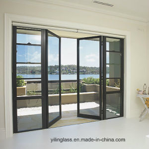 Double Glazed Thermal Insulated Aluminium Casement Door pictures & photos