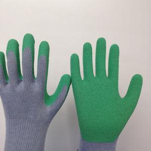 10g T/C Glove with Foam Wrinkle Latex Coating