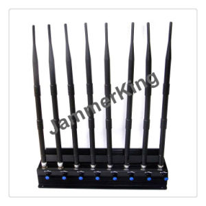 2.4gwifi +Remote Control+Gpsl1+Lojack Stationary 8 Bands Cell Phone Jammer, Adjustable Powerful 3G 4G Cellphone Jammer & UHF VHF WiFi Jammer pictures & photos