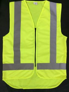 100%Polyester Solid Fabric Reflective Safety Vest pictures & photos