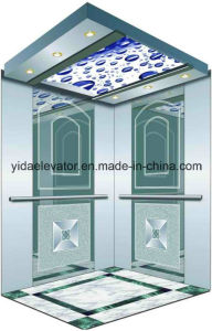 Mirror Etched Stainless Steel Passenger Elevator (YDJ-O2-6) pictures & photos