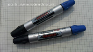 Double Dual Twin Tips Oil Based Permanent Marker pictures & photos