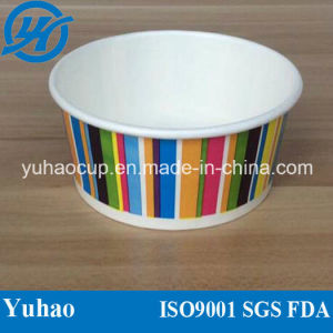 Cheap Customize Ice Cream Cup with Dome Lid with Spoon (YH-L410) pictures & photos