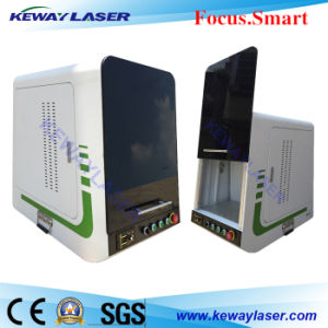 Automatic Fiber Laser Marker System with Enclosure pictures & photos