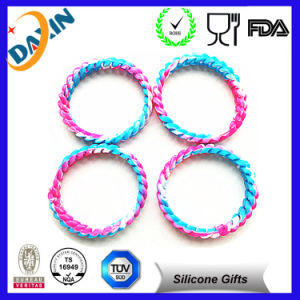 2015 Hot Sale! Rainbow Silicon Bracelets with Customized Printed Log pictures & photos