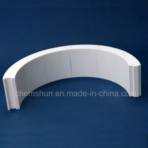 Aluminum Oxide Ceramic Pipe Liner Tile for Steel Pipe Elbows pictures & photos